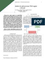 Articulo sobre seguridad de aplicaciones web