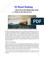 Mil Hist - WWII HMS Hood Sinking