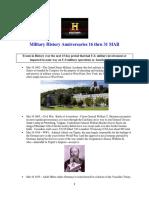 Military History Anniversaries 0316 Thru 033118