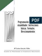 Programación en Lenguaje Ensamblador Instrucciones Básicas Formatos y Direccionamientos 13 Pp