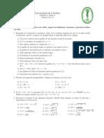 Universidad de Córdoba Cálculo I Taller 1, Semestre II-2016