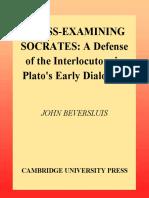 Beversluis, John, Cross-examining Socrates