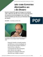REN _ REN Discute Com Governo Traçado Alternativo Ao Gasoduto Do Douro _ PÚBLICO