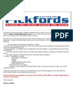 Pickfords Inventory 2017
