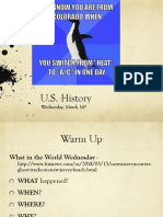 wed march 14 us history
