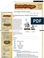 Battlecollege - Fane Knight Skeryth Issyen - Retribution Dragoon Character Solo