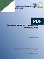 Manual Llenado Formularios SIGSA.