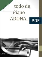 Libro de Piano Basico I Adonai