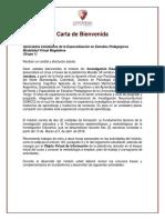Carta de Bienvenida Módulo Investigacon en Educacion_Mag Gr 2