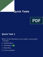 Quick Tests Unit 1 and Unit 2