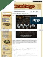 Battlecollege - Dawnguard Invictors – Retribution Unit 1