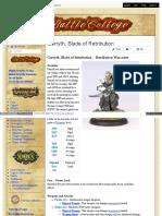 Battlecollege - Garryth, Blade of Retribution – Retribution Warcaster 1