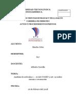 Análisis de Artículos 1 – 16 Del COGEP