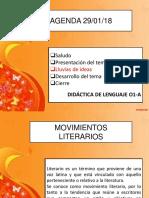Tema Movimientos Literarios