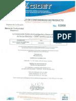 Certificado Cidet Retie Varillas 0200