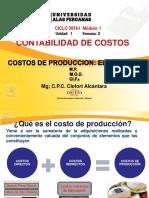 Semana 2 Costos de Produccion Elementos