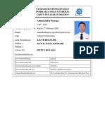 KartuPendaftaranAhmad Indra Prayoga