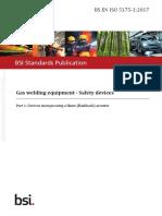 BS EN ISO 5175-1 (2017) FBA's