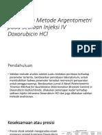 Penetapan Metode Argentometri Pada Sediaan Injeksi IV