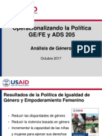 1. ADS 205 and Gender Analysis- Honduras Training_DRAFT_101817 (Esp)Rev