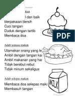 Adab Sebelum Makan
