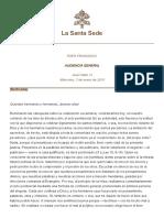 Papa Francesco 20180103 Udienza Generale