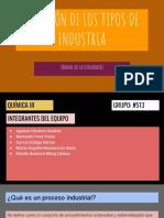 División de Los Tipos de Industria