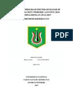 Evaluasi Program Imunisasi Dasar Di Puskesmas Setu Periode Agustus 2016 Sampai Dengan Juli 2017