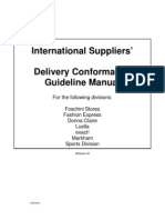 Delivery Guideline Manual for International Suppliers