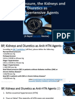 BP, The Kidneys and Diuretics as Anti-HTN Agents