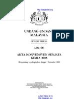 Akta 641 Akta Konvensyen Senjata Kimia 2005