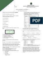 Lista 1 - Conjuntos IFPR 2018