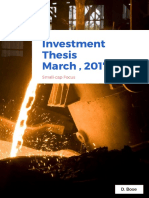Maithon Alloy - Investment Thesis