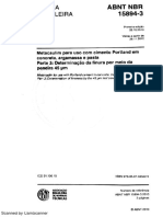 NBR 15894-3 (2010)- Determinação Da Finura Peneira 45 Micra Metacaulim via Úmida - (Em Vigor)