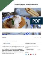 Recetas de Verano Para Los Peques_ Helados Caseros de Fruta fresca
