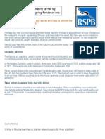 Charity Letter Leaflet Persuasive)