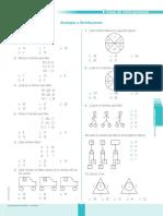 Ficha de Refuerzo Analogías y Distribuciones