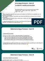 Língua Francesa - Aula 14