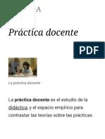 Práctica Docente - Wikipedia, La Enciclopedia Libre