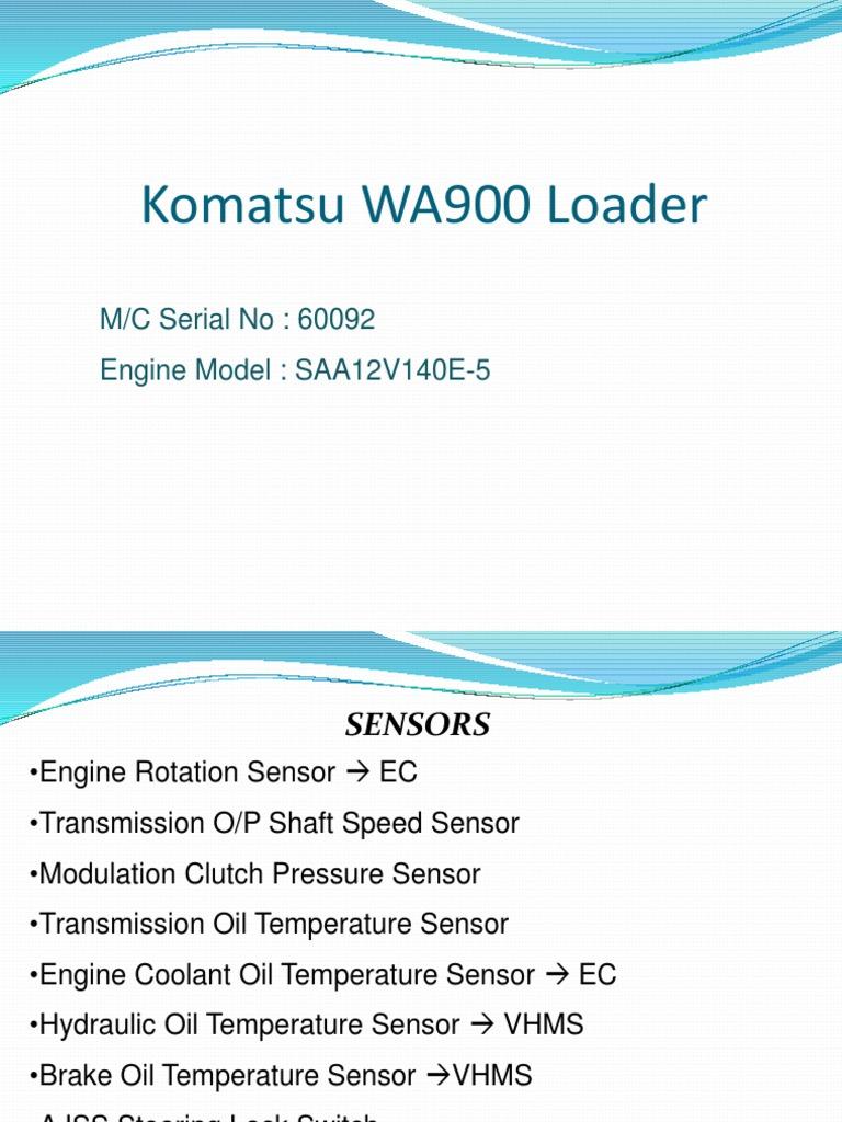 WA900 Sensors Limitations and Fault Code | Mathematics | Nature