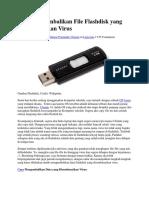 Cara Mengembalikan File Flashdisk Yang Disembunyikan Virus