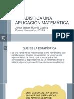 Estadística Una Aplicación Matemática