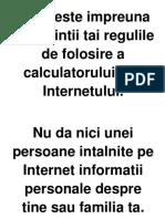 Stabileste impreuna cu parintii tai regulile de folosire a calculatorului si a Internetului.docx
