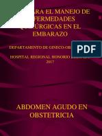 ENFERMEDADES QUIRÚRGICA EN OBSTETRICIA Dr. Burela