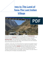 A Journey to the Land of Epics, Mana-The Last Indian Village