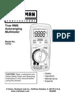 Craftsman 73754 Manual