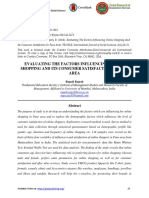 Evaluating the Factors Influenceing Online Shopping and Its Consumer Satisfaction in Pune Area