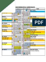 Calendario Escolar FESP 2018 1