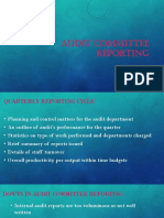 11.Audit Committee Reporting