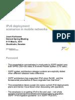 IPv6 Deployment_scenarios in Mobile Netw-jkorhonen